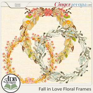 Fall in Love Floral Frames by ADB Designs
