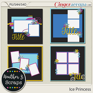 Ice Princess TEMPLATES by Heather Z Scraps