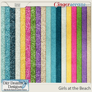 Girls at the Beach {Glitters} by Day Dreams 'n Designs