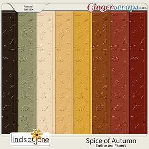 Spice of Autumn Embossed Papers by Lindsay Jane