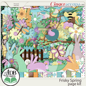 Frisky Spring Page Kit by ADB Designs
