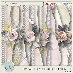 Live Well, Laugh Often, Love Much Borders by Ilonka's Designs