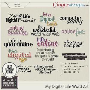 My Digital Life Word Art by Aimee Harrison and JB Studio
