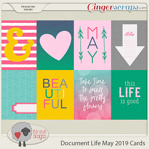 Document Life May 2019 Journal Cards by Luv Ewe Designs