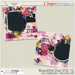 Beautiful Duo - Templates - VOL 12 - by Neia Scraps