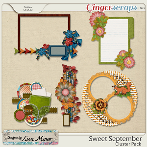 Sweet September Cluster Pack from Designs by Lisa Minor