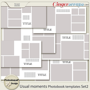 Usual moments Photobook templates Set 2