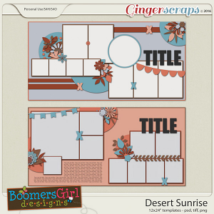 Desert Sunrise Template Pack by BoomersGirl Designs