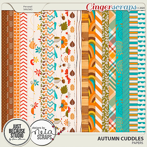 Autumn Cuddles Papers by JB Studio and Neia Scraps
