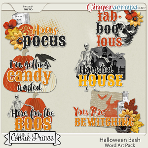 Halloween Bash - WordArt Pack