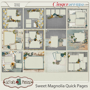Sweet Magnolia Quick Pages by Scraps N Pieces