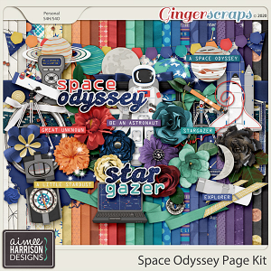 Space Odyssey Page Kit by Aimee Harrison