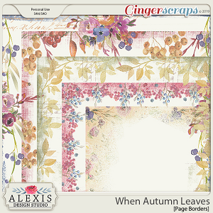 When Autumn Leaves - Page Borders