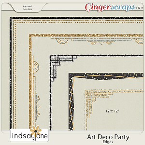 Art Deco Party Edges by Lindsay Jane