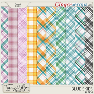 Blue Skies Plaids by Tami Miller Designs