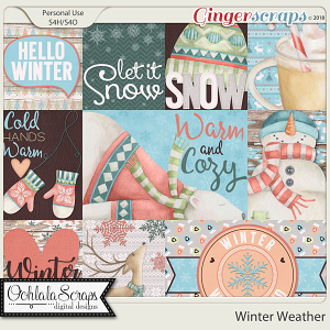 Winter Weather Pocket Scrap Cards