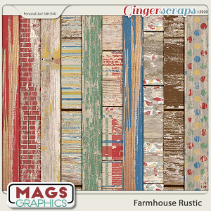 Farmhouse Rustic WOOD PAPERS by MagsGraphics