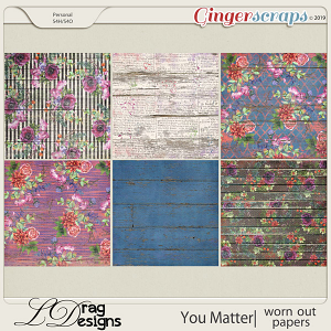 You Matter: Worn Out Papers by LDragDesigns