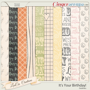 It's Your Birthday Outliners