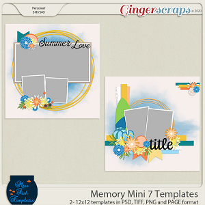 Memory Mini 7 Templates by Miss Fish