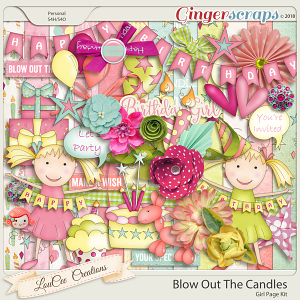 Blow Out The Candles Girl Page Kit by LouCee Creations