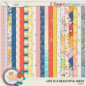 Life Is A Beautiful Mess Patterned Papers by JB Studio