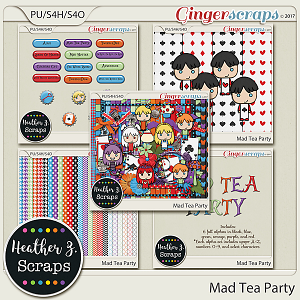 Mad Tea Party BUNDLE by Heather Z Scraps