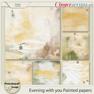 Evening with you Painted papers