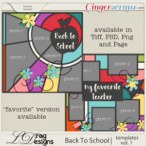 BackTo School: Templates Vol.1  by LDrag Designs