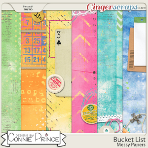 Bucket List - Messy Papers by Connie Prince