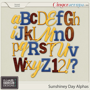 Sunshiney Day Alpha Sets by Aimee Harrison