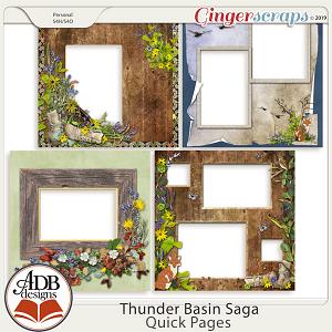 Thunder Basin Saga Quick Pages by ADB Designs