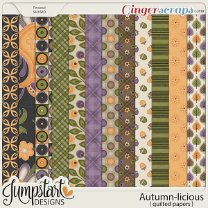 Autumn-licious {Quilted Papers} by Jumpstart Designs