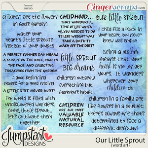 Our Little Sprout {Word Art} by Jumpstart Designs