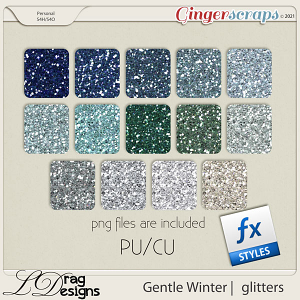 Gentle Winter: Glitterstyles by LDragDesigns