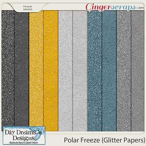 Polar Freeze {Glitter Papers} by Day Dreams 'n Designs