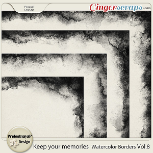 Keep your memories Watercolor Borders Vol.8