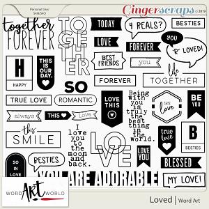 Loved Word Art