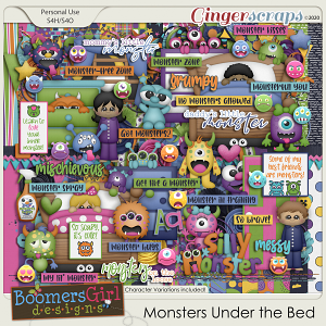 Monsters Under the Bed by BoomersGirl Designs