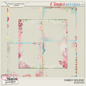 Family Holiday - Borders - By Neia Scraps