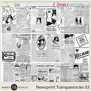 Newsprint Transparencies 03 by Karen Schulz