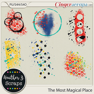 The Most Magical Place PAINT by Heather Z Scraps