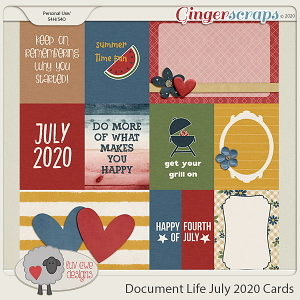 Document Life July 2020 Journal Cards by Luv Ewe Designs