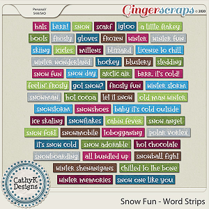 Snow Fun - Word Art  by CathyK Designs