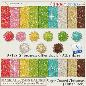 Sugar Coated Christmas (glitter pack)