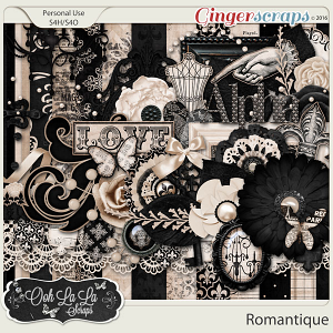 Romantique Digital Scrapbooking Kit