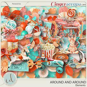 Around And Around Elements by Ilonka's Designs