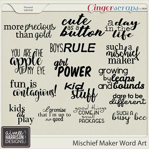 Mischief Maker Word Art by Aimee Harrison