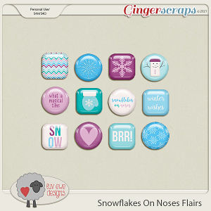 Snowflakes On Noses Flairs by Luv Ewe Designs