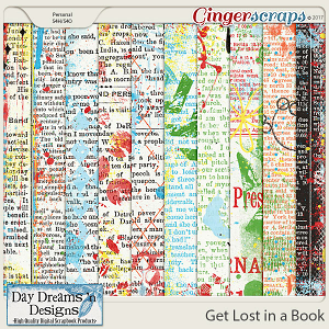 Get Lost in a Book {Newspint Papers} by Day Dreams 'n Designs